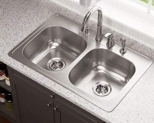 Polaris Sinks 33 L X 22 W Double Bowl Drop In Stainless Steel