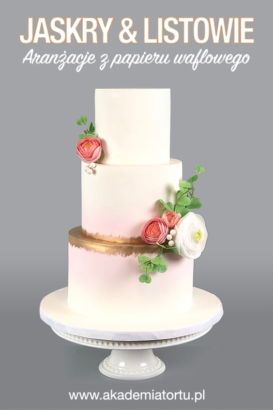 Jaskry Z Papieru Waflowego Tutorial Cake Communion Cakes Lace Wedding Cake