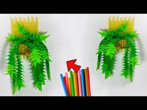 Cara Membuat Tanaman Hias Dinding Sedotan Kreatif Decorating