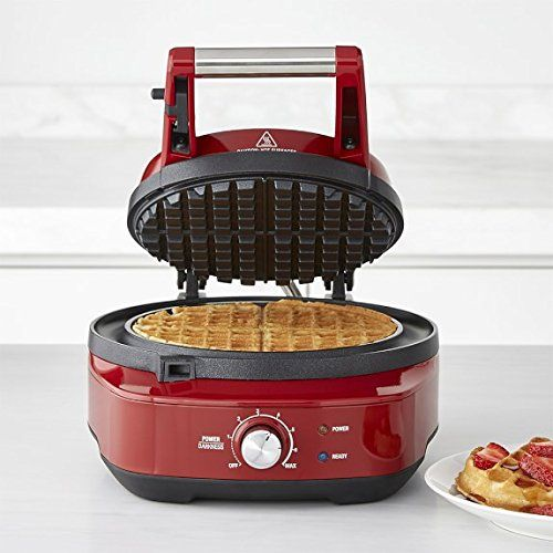 Breville The No Mess Classic Round Waffle Maker Cranberry Red Bwm520crn Waffles Maker Waffles Breville
