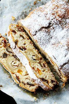 mon Stöllen rapide comme un gâteau Avec marmelade d'orange, dattes, raisins secs ....