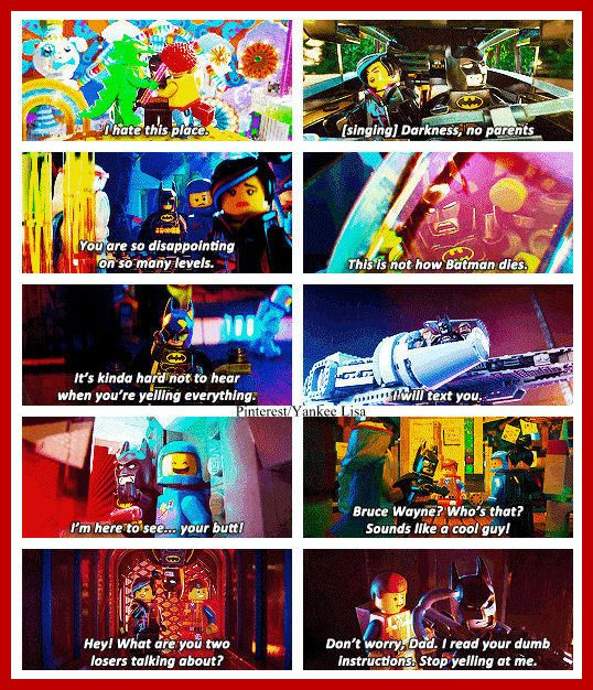 Funny Lego Movie Quotes: Batman. Like The Best Character In The Whole Darn Movie