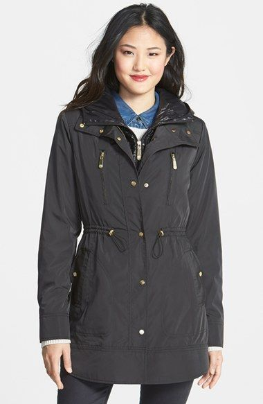 Vince Camuto Coat with Removable Hooded Insert   Nordstrom