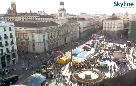 Live cam madrid puerta del sol live streaming hd views around the world pinterest madrid - Webcam puerta del sol ...
