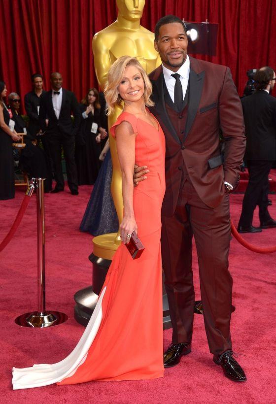 Kelly Ripa And Michael Strahan At The Oscars, 2014