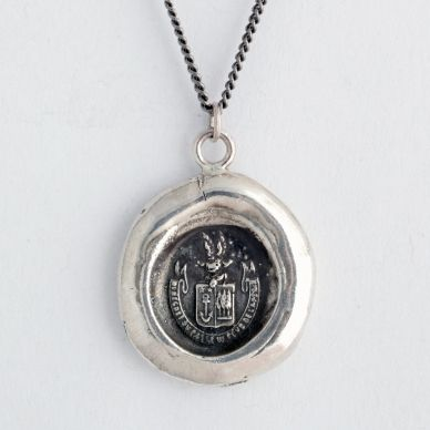 Be Here Now Wax Seal Necklace