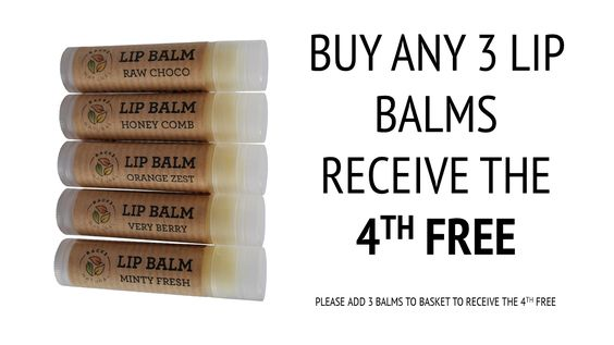 Great lip balms made from some lovely natural ingredients and organic beeswax leaving lips beautifully moisturised. Currently on sale and with a free llip balm offer too!