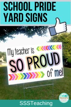 Positive Yard Signs Post Cards Show Off Support Students Classroom Community Classroom Community Teacher Signs Yard Signs