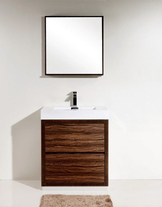 $789 @ efaucets set - BLISS 30\u2033 WALNUT FREE STANDING MODERN BATHROOM