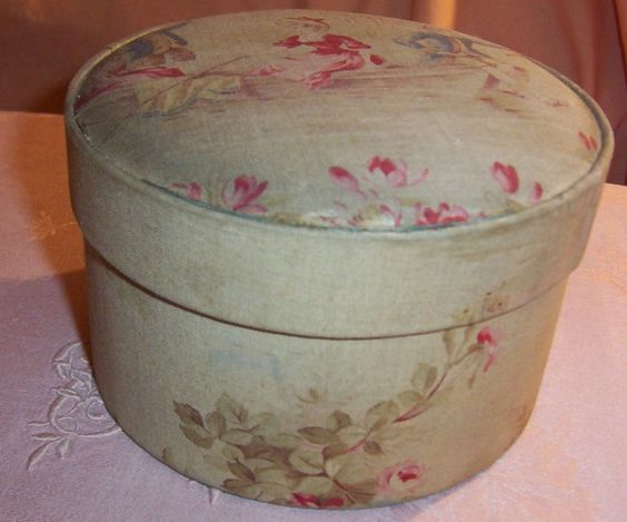 French antique fabric covered box