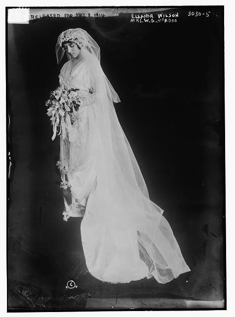 Eleanor Wilson -- (Mrs. W.G. McAdoo) [in wedding dress]