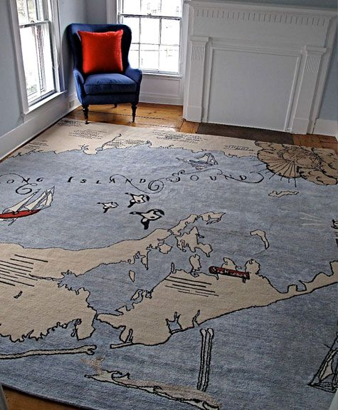 WOW!!!!! I love maps, and so I love this! But it would be a crime to cover this with furniture & it's impractical to leave a room empty so that you can see the beautiful rug :)