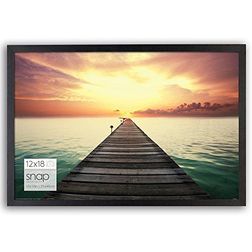 Timeless Flat Black Frame Holds A 12x18 Image Without A Mat Contemporary Narrow Frame Profile And Flex Tab Photo Frame Wall Picture On Wood Photo Wall Gallery