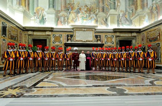 Pope Francis and the Vatican Swiss Guards