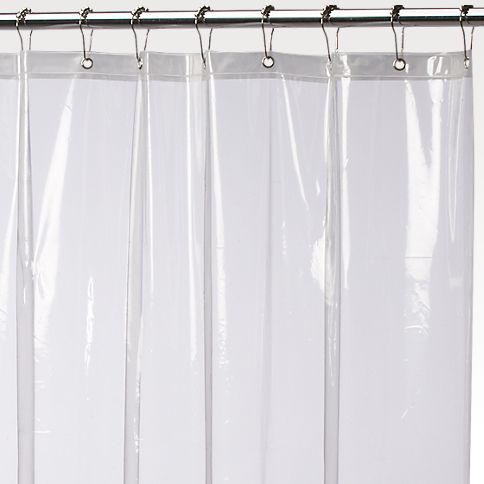 Super Clear Anti Mildew 84 Extra Long 10 Gauge Vinyl Shower Curtain Liner By Carnation Siesta