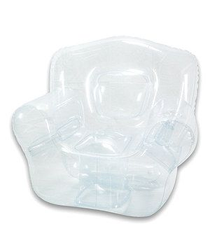 Add some extra seating to any room with this unique, inflatable bubble chair. The stylish design features two cup holders and reinforced seams for a convenient and long-lasting design that is sure to catch the eye.