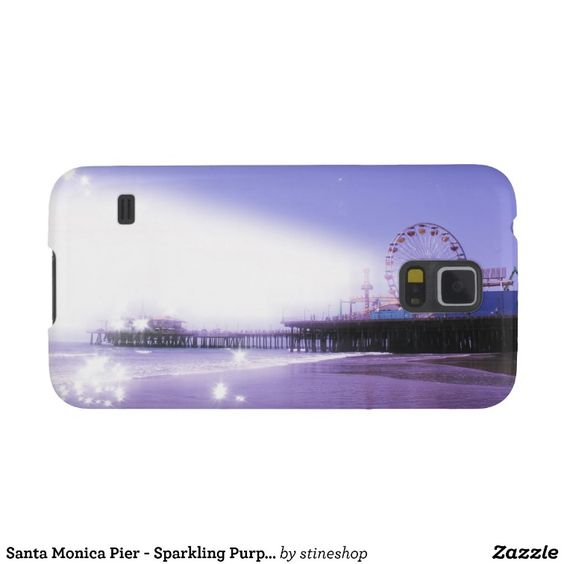Santa Monica Pier - Sparkling Purple Photo Edit Galaxy S5 Cases