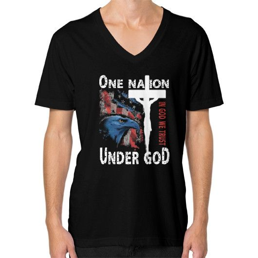ONE NATION UNDER GOD V-Neck (on man)