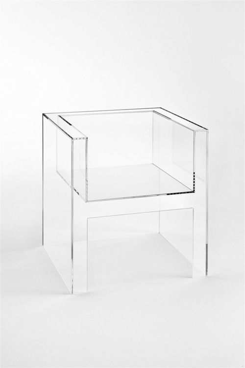 Jean Dudon Plexiglass Side Chair 1968 FURNITURES MORE