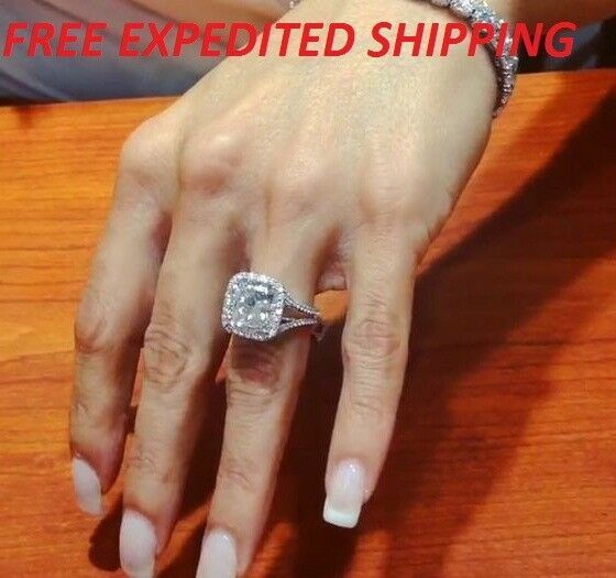 Find Many Great New Used Options And Get The Best Deals For 2 5ct D Vvs1 Diamond Engagement Wedding Rings Vintage Big Wedding Rings Wedding Rings Engagement