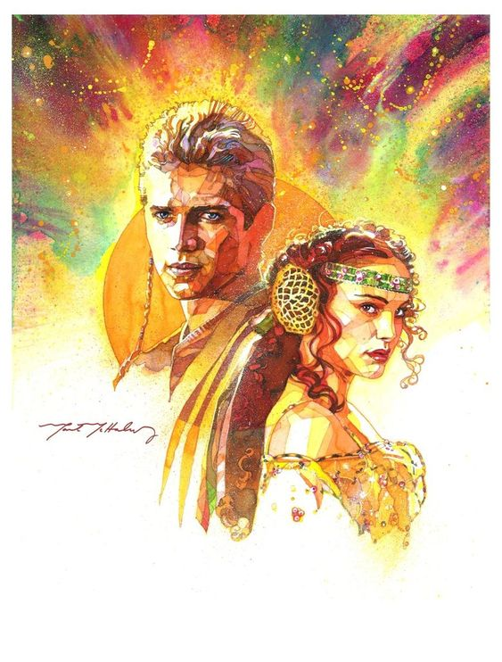 Star Wars - Anakin and Padme by Mark McHaley