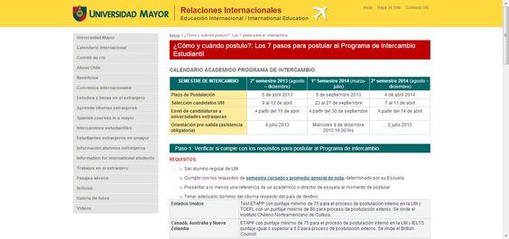 7 Pasos para postular al Programa de Intercambio Estudiantil. Relaciones Internacionales - Universidad Mayor