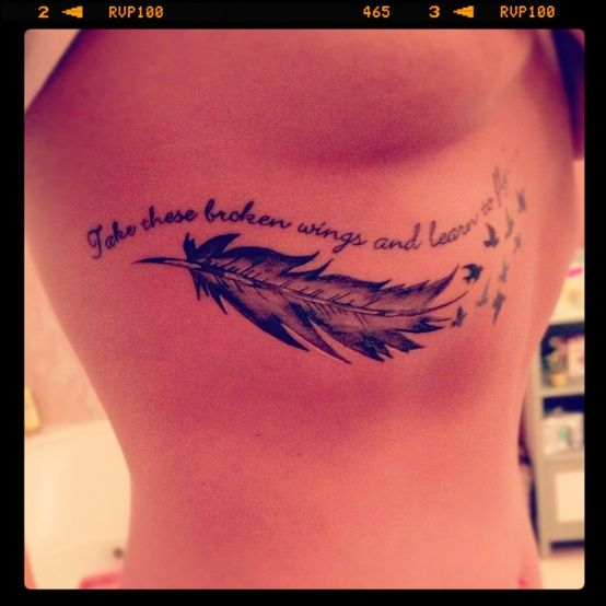 take these broken wings and learn to fly tattoo google