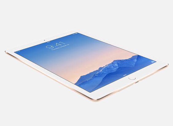 """Thinner"", ""Lighter"", ""Faster"" now with touch id!    iPad Air 2"