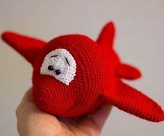 Amigurumi cartoon airplane crochet pattern