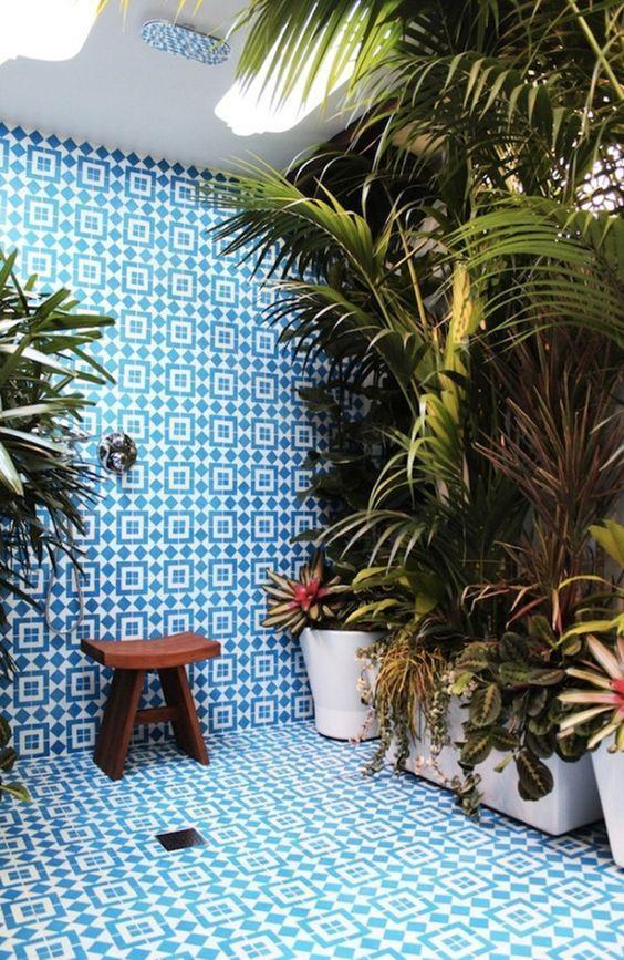 Tropical Style Or Urban Jungle Trend Jardin Interieur Carrelage