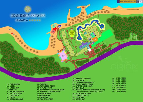 Map Layout Gran Bahia Principe Jamaica Jamaica – Jamaica Tourist Attractions Map