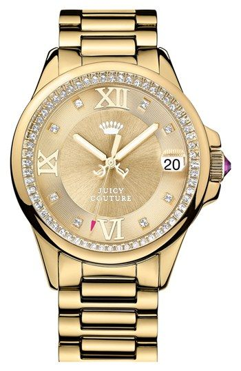 Juicy Couture 'Jetsetter' Bracelet Watch, 44mm available at #Nordstrom