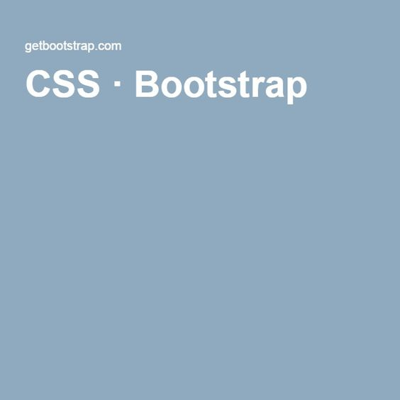 CSS · Bootstrap