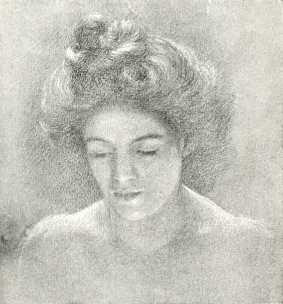 Charcoal on white paper  Before 1903