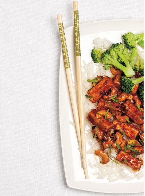 Sauté de tofu aux noix de cajou Recettes   Ricardo NOTE À MOI-MÊME : DOUBLER LA RECETTE DE SAUCE