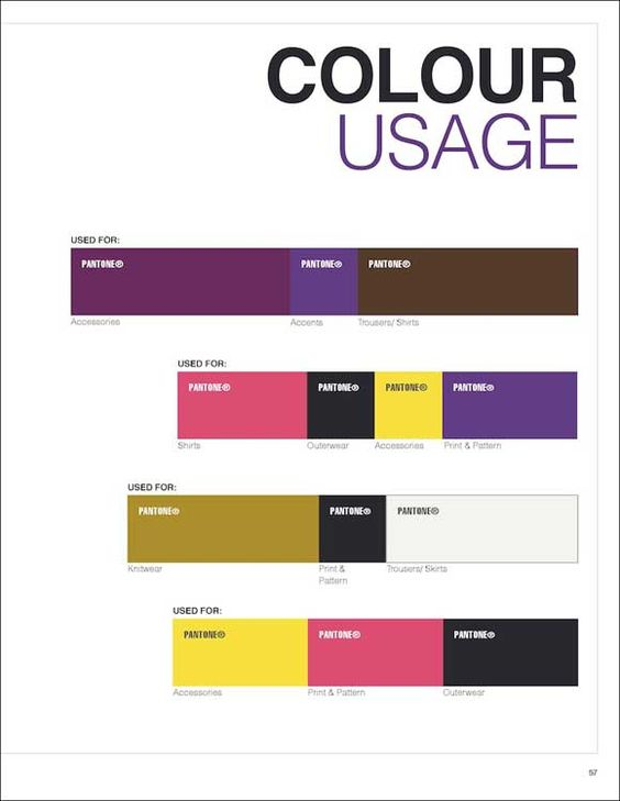 Next Look Colour Usage A W 2017 2018 modeinformation GmbH - trend analysis