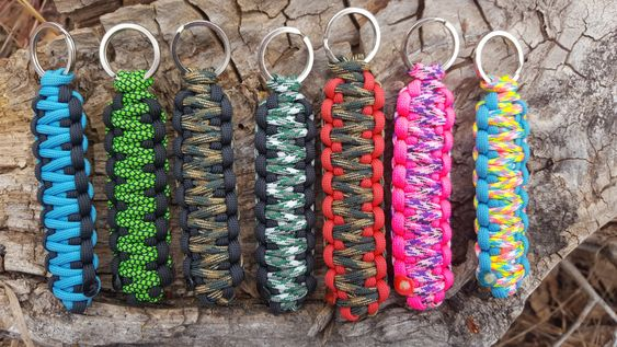 King Cobra Weave Paracord Key Chains Customizable by BrodsParacord on Etsy