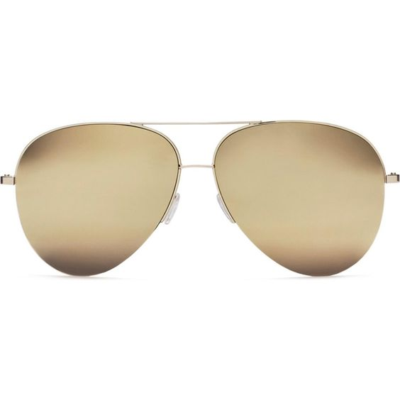Victoria Beckham Classic Victoria Gold Mirrored Sunglasses as seen on Kylie Jenner