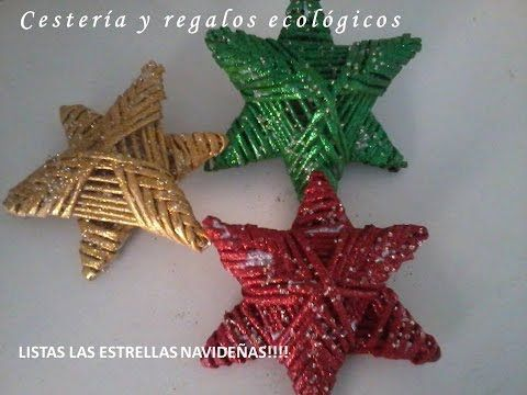 Una estrella navidena lienzo, adorno navideno, etiqueta, candelero. Parte 6.1. - YouTube