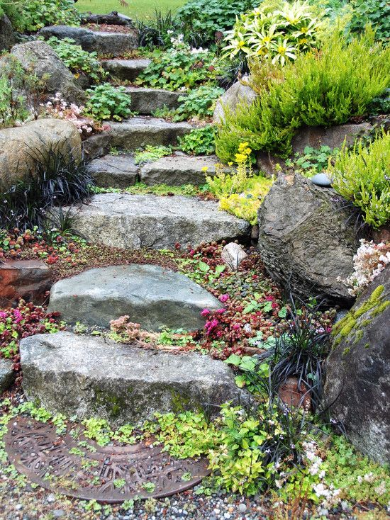 Aménagement jardin en pente –astuces pour apprivoiser le terrain ...