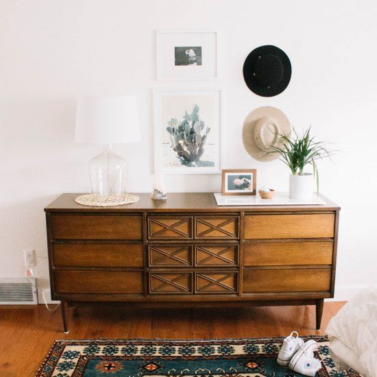 dressers can be a tough thing to decorate! learn how to decorate your dresser with fun art work and things around the house!