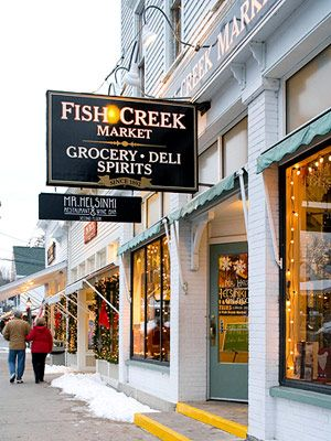 Door County, WI -  a favorite place to visit - a quaint little cluster of towns up in Northern Wisconsin.