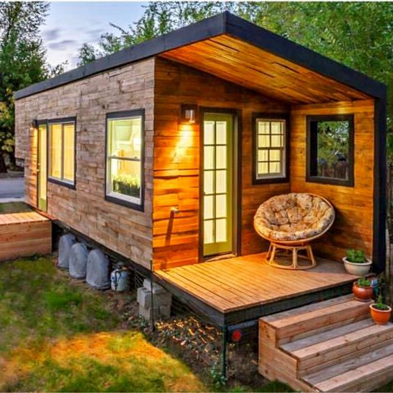 Tiny House Ideas - Inside tiny houses images - see tiny house interiors and exteriors, floor plans and more - pictures of tiny houses inside and out like HGTV Tiny Homes