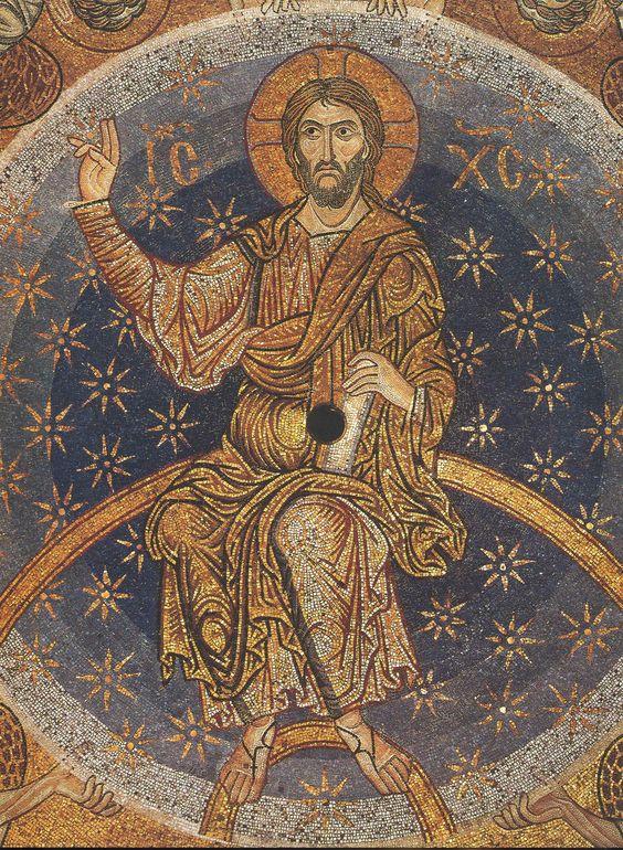 Христос во славе; Византия.; XII в. - православные мастерские «Русская Икона»: