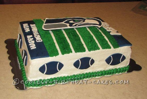Coolest Seahawk Football Cake Seahawks Cake Football Cake Savoury Cake
