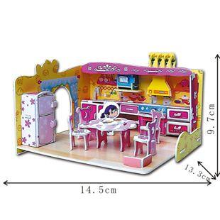 4 set/lote venta caliente Puzzles niños juguetes educativos de DIY 3D de papel del rompecabezas para niños adultos casa de las niñas regalos H011 5 / 6 / 7 / 8 en Puzzles de Juguetes y Aficiones en AliExpress.com | Alibaba Group