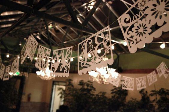Personalized Papel Picado banners with a Cricut