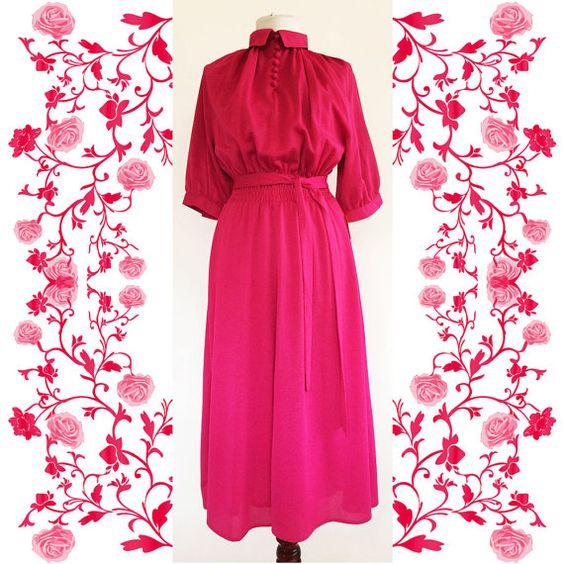 """1970's Vintage Deadstock NOS  """"Reber""""  Dress"""