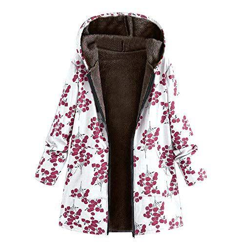 Damen Teddyfell Fleecejacke Winterjacke Kapuzejacke Warm Mantel Jacke Pullover