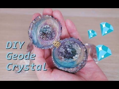 Diy Viral Rainbow Geode Crystal Box From Resin And Polymer Clay